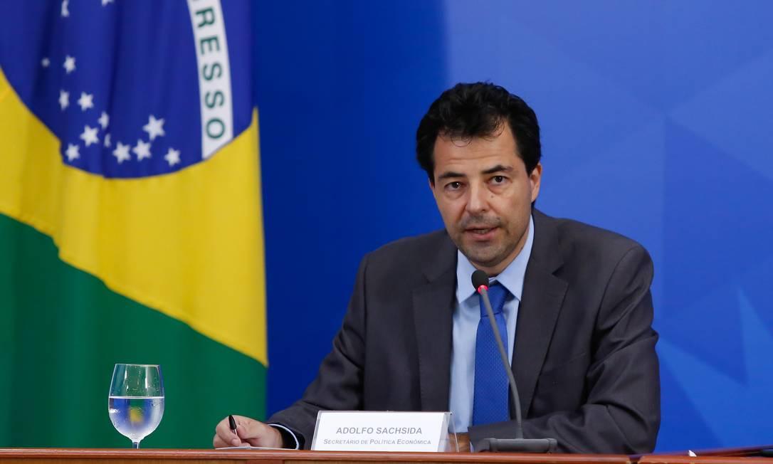 O secretário de política econômica, Adolfo Sachsida Foto: Anderson Riedel / Agência O Globo