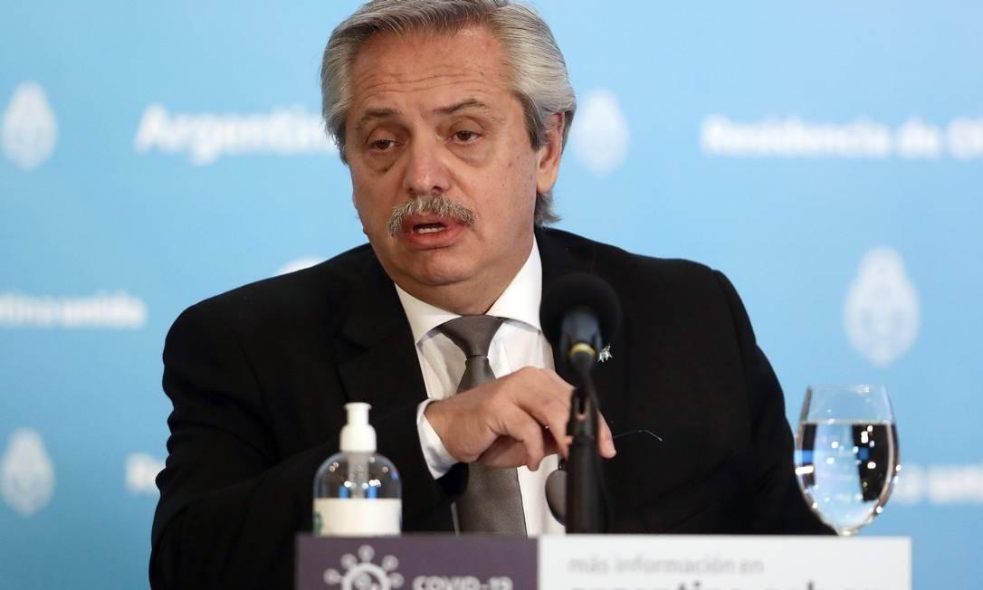 Presidente argentino Alberto Fernández Foto: ALEJANDRO PAGNI / AFP