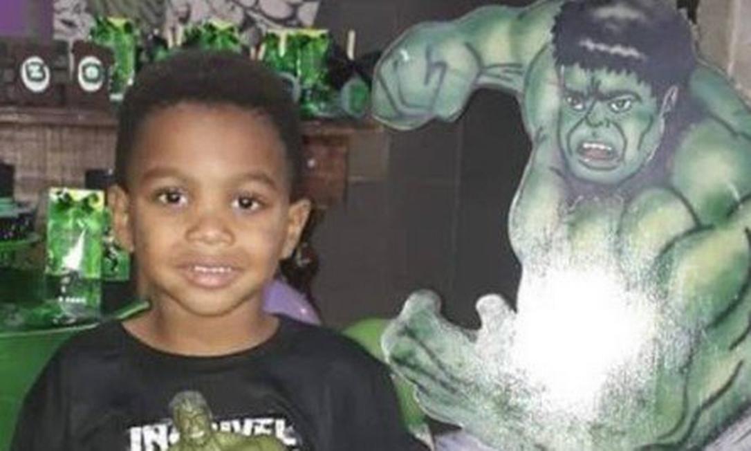 Enzo, de 4 anos, foi morto a tiro na própria festa de aniversário Foto: Reprodução