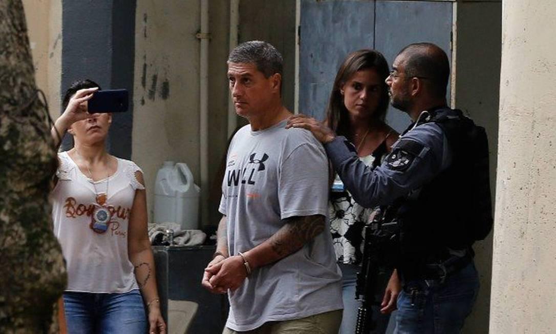 Ronnie Lessa no dia em que foi preso em 12 de março de 2019 Foto: Pablo Jacob