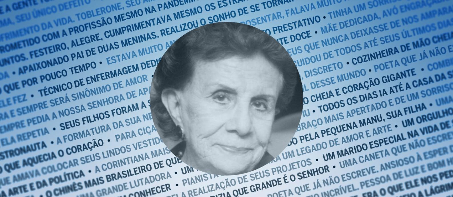 Terezinha Araujo Lima e Silva, vítima da Covid-19 aos 91 anos Foto: Arquivo pessoal