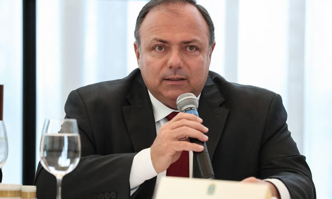 O ministro da Saúde, Eduardo Pazuello, na reunião ministerial Foto: Marcelo Corrêa/PR