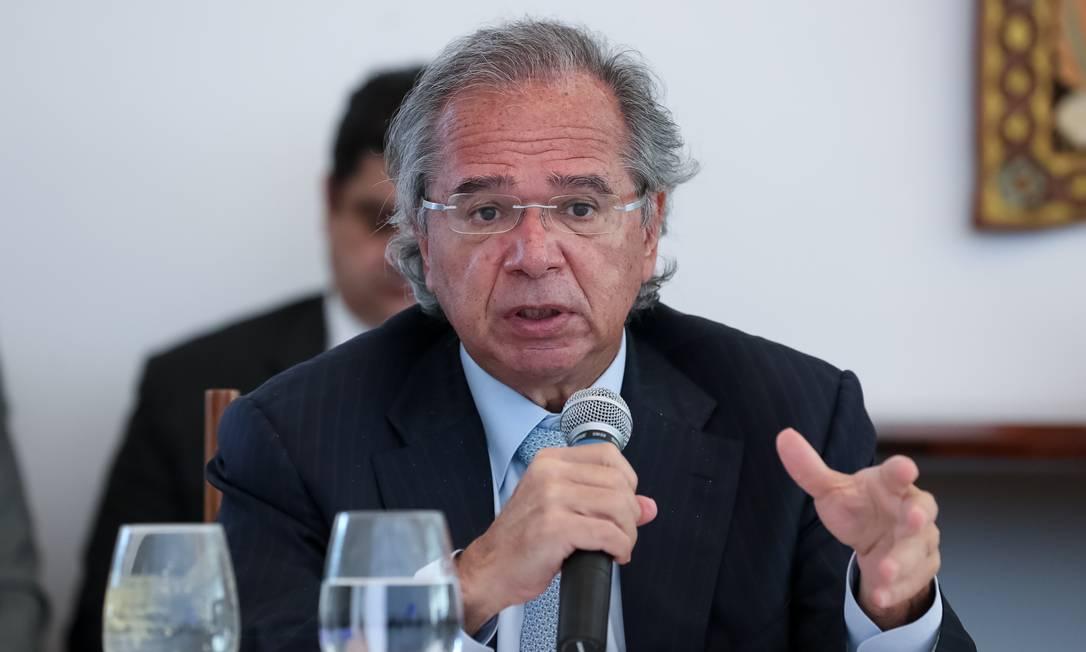 O ministro da Economia, Paulo Guedes, na reunião ministerial Foto: Marcos Corrêa/PR