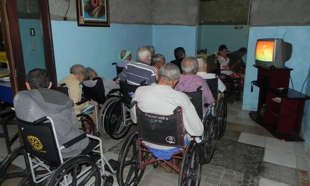 Abrigo funciona há 10 anos e acolhe 71 idosos Foto: Reprodução