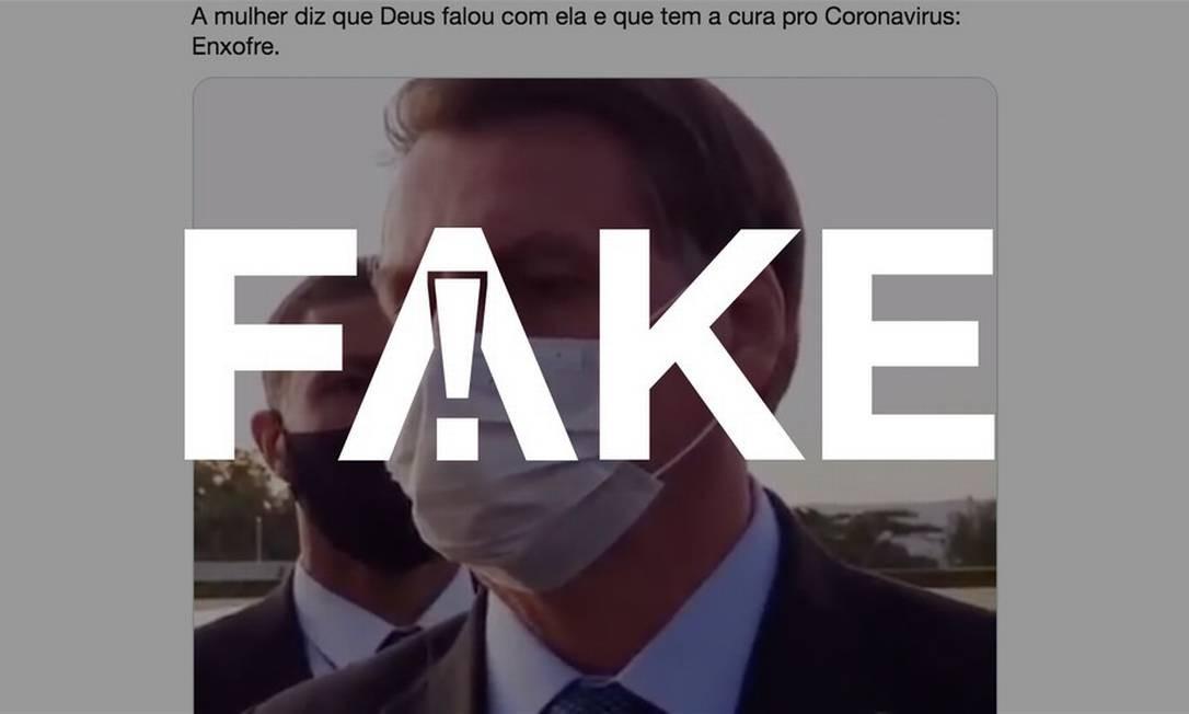 É #FAKE que enxofre destrua o coronavírus Foto: Reprodução