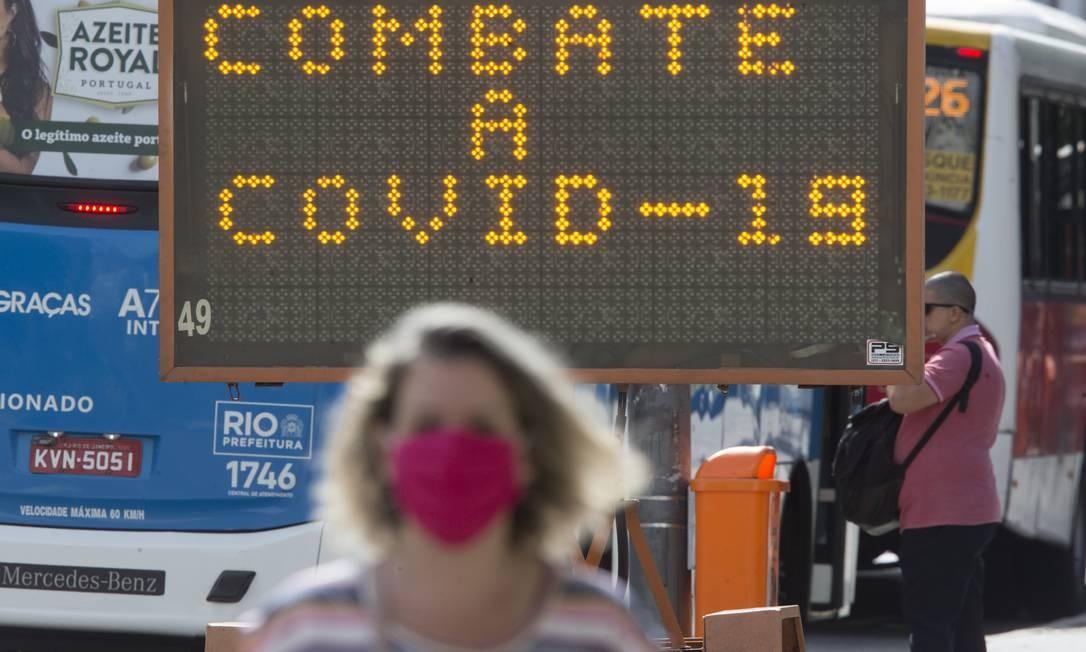 Crise do novo coronavírus Foto: Antonio Scorza / Agência O Globo