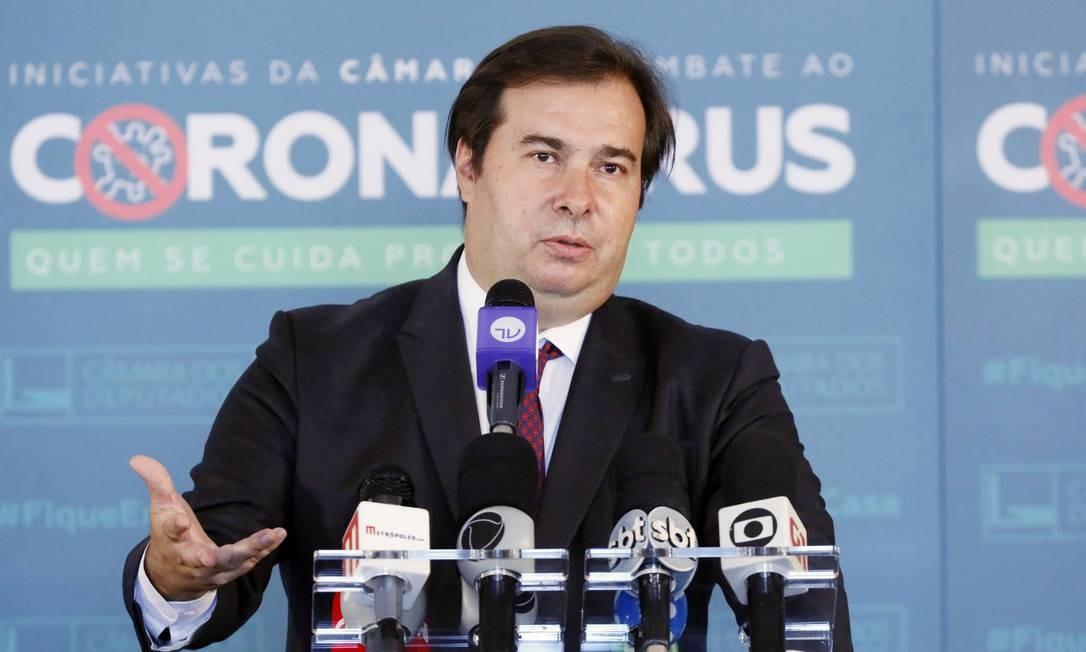 Presidente da Câmara, Rodrigo Maia, defende que o Executivo faça a coordenação do combate à pandemia Foto: Maryanna Oliveira/Câmara dos Deputados
