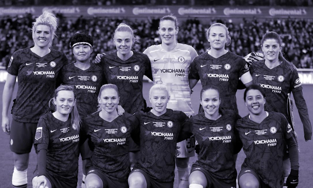 Chelsea foi campeão da liga inglesa de futebol feminino Foto: Arquivo