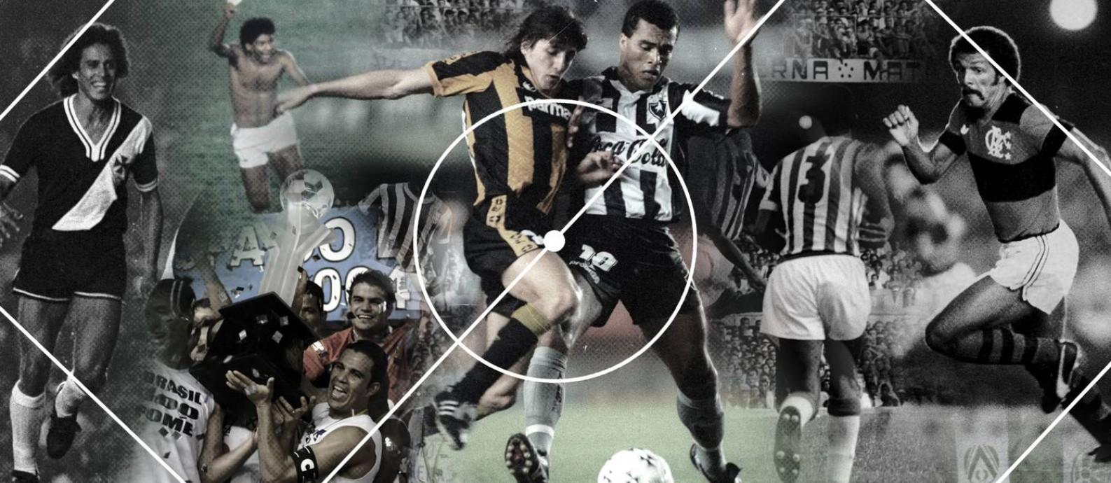 Segunda parte do ranking de maiores jogos da história do Maracanã: do 41º ao 50º lugares Foto: Editoria de Arte