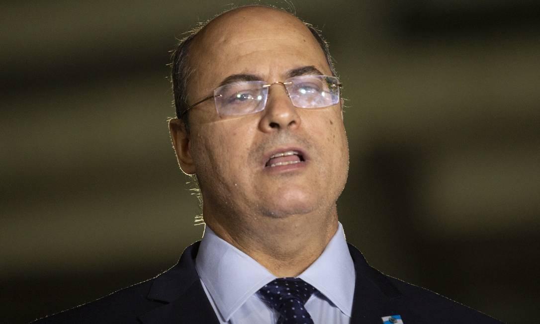 Governador disse estar tranquilo em sua inocência Foto: Gabriel Monteiro / Agência O Globo