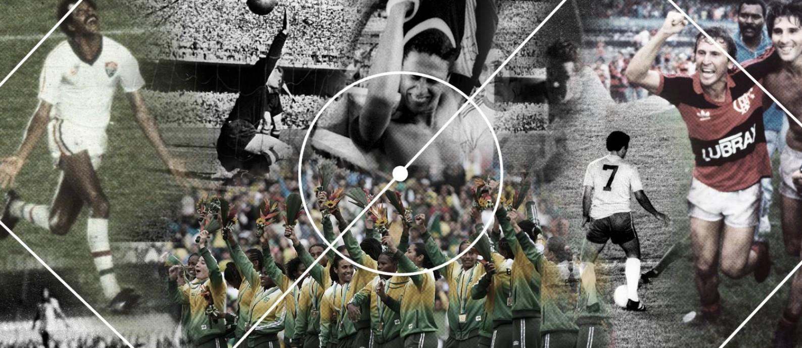 Terceira parte do ranking de maiores jogos da história do Maracanã: do 31º ao 40º lugares Foto: Editoria de Arte
