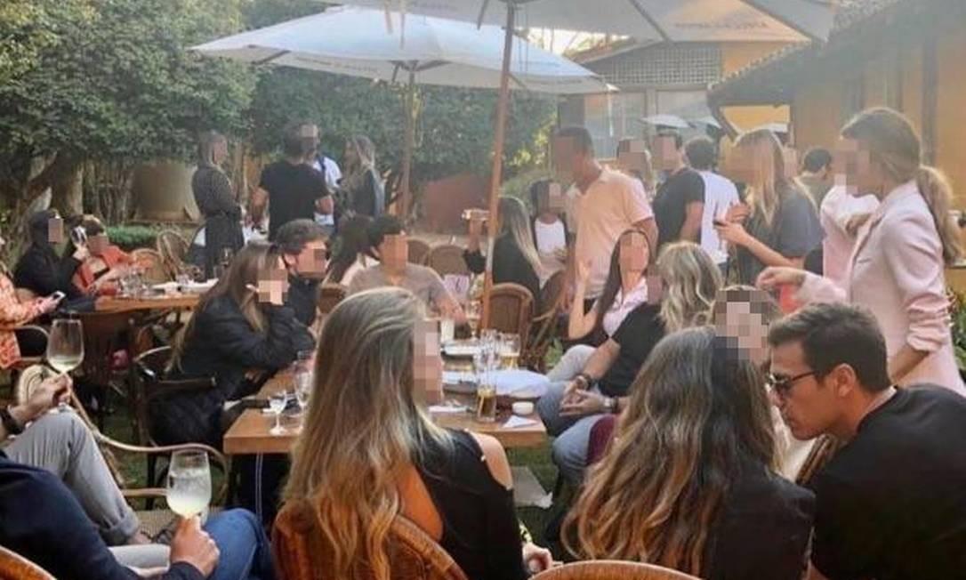 Festa de advogado reuniu mais de 30 convidados em restaurante de Nova Lima (MG) Foto: Reprodução