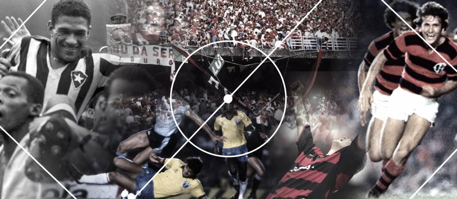Quinta parte do ranking de maiores jogos da história do Maracanã: do 11º ao 20º lugares Foto: Editoria de Arte