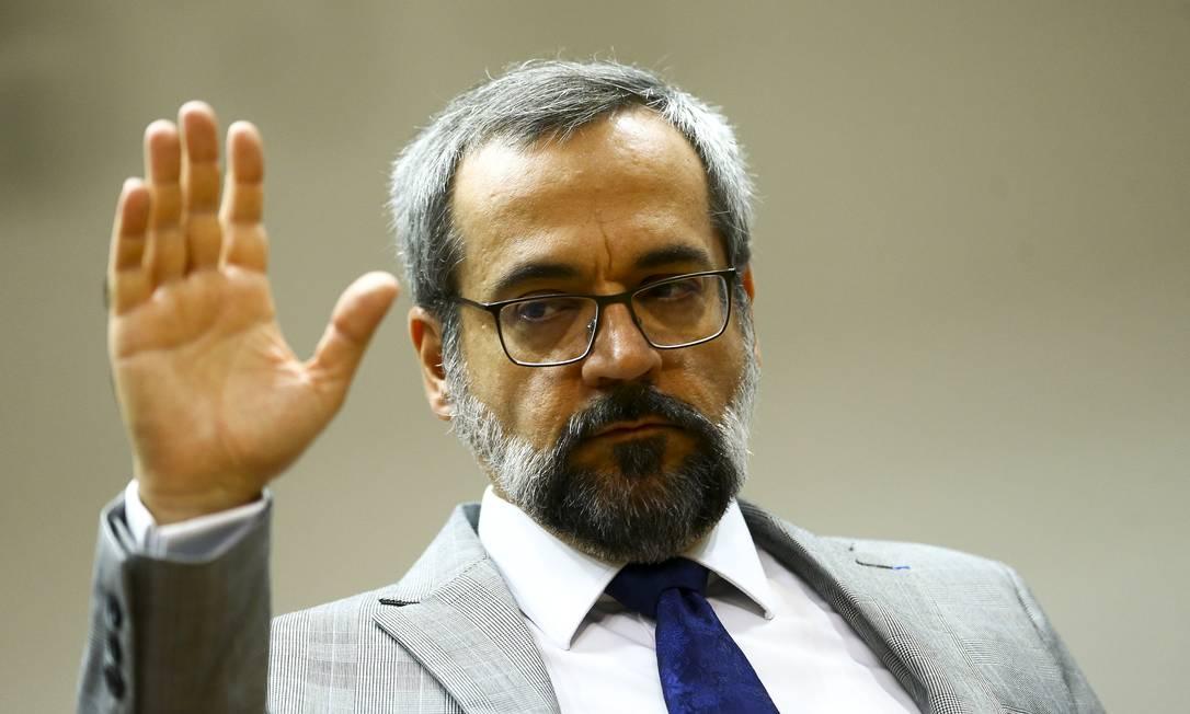 O ministro da Educação, Abraham Weintraub Foto: Marcelo Camargo / O GLOBO