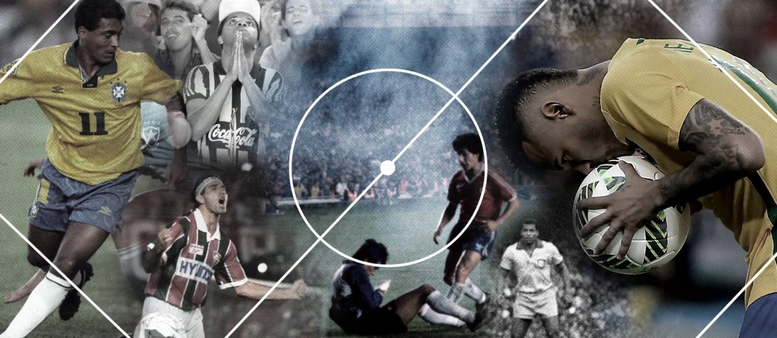 Última parte do ranking de maiores jogos da história do Maracanã: do 1º ao 10º lugares Foto: Editoria de Arte