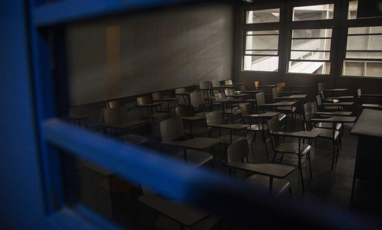 Data de retorno presencial ainda é incerta nas universidades públicas do Rio e de SP Foto: Gabriel Monteiro / Agência O Globo