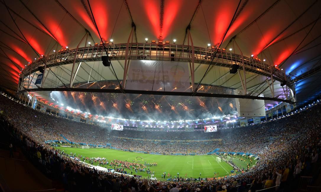 Maracanã recebe a festa da Alemanha, campeã mundial no estádio em 2014 Foto: GABRIEL BOUYS / AFP