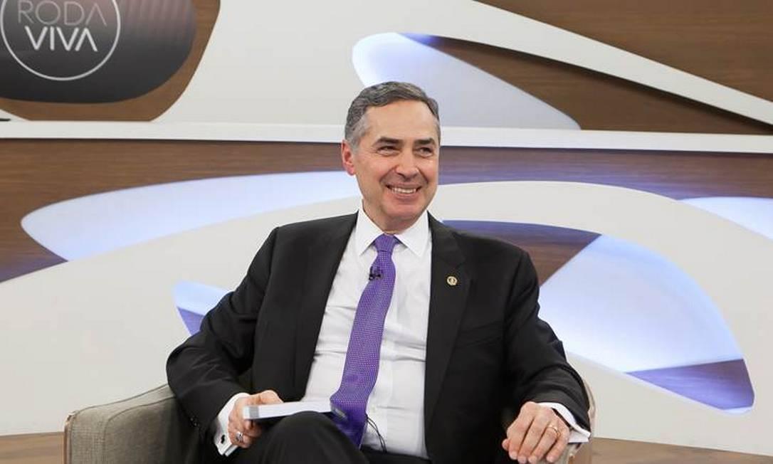Ministro do Supremo Tribunal Federal (STF) Luís Roberto Barroso em entrevistao ao Roda Viva Foto: Nathalie Bohm/ Divulgação