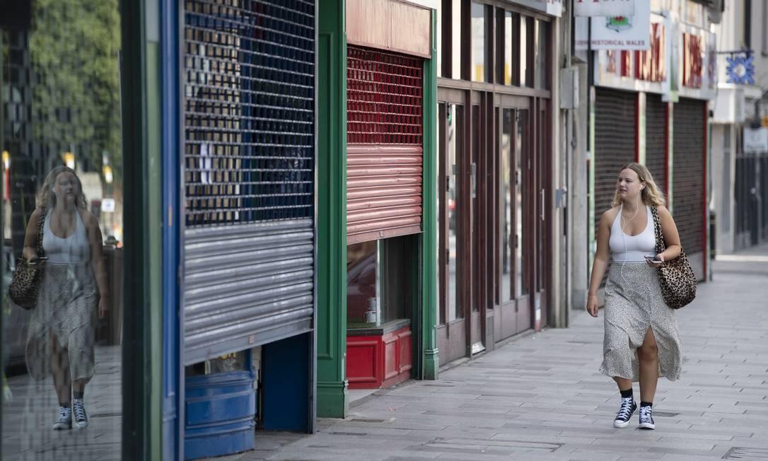 Comércio fechado no Reino Unido Foto: Matthew Horwood / Getty Images