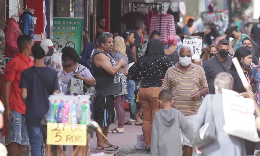 Prefeitura autorizou reabertura do comércio em Belford Roxo Foto: Cléber Júnior / Agência O Globo
