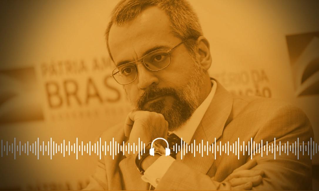 Ministro Weintraub resiste no cargo, apesar de críticas à sua gestão e ataques ao STF Foto: Arte