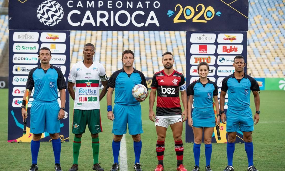 Flamengo x Portuguesa, no Maracanã, foi com portões fechados Foto: Alexandre Vidal / Flamengo