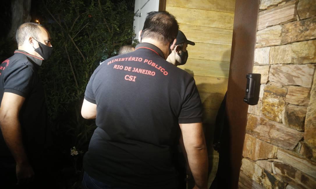Operação da Polícia Civil e do Ministério Público do Estado do Rio contra a máfia do jogo do bicho Foto: Fabiano Rocha / O Globo