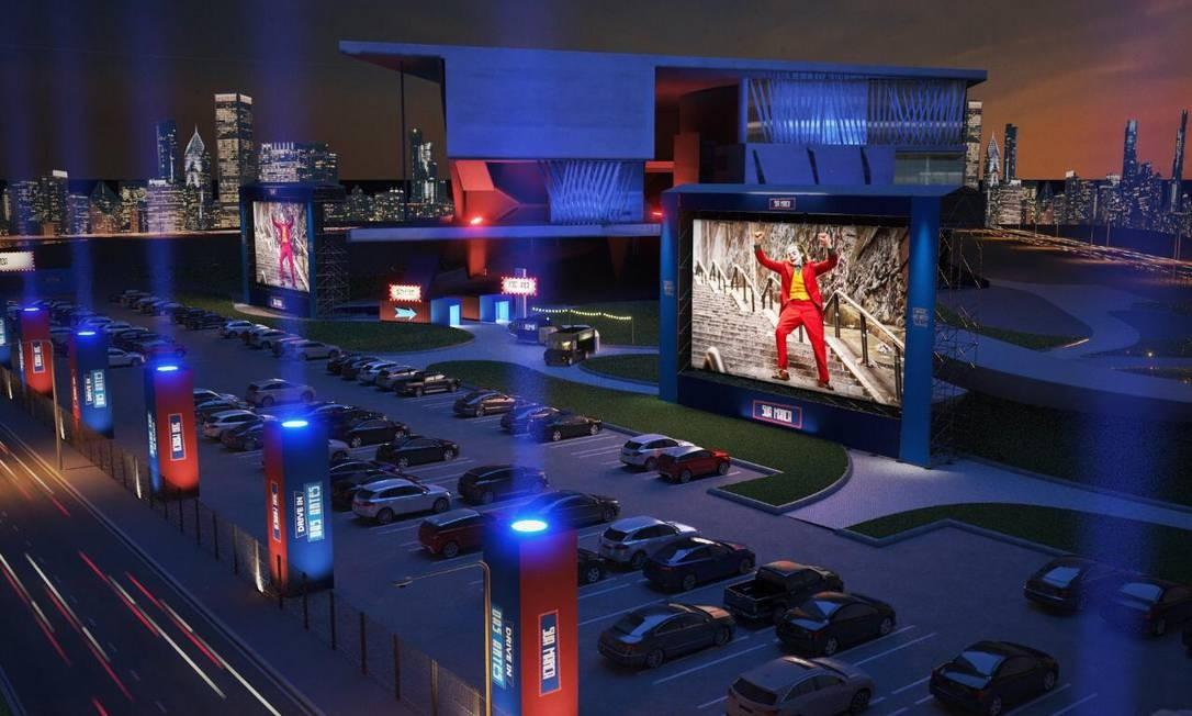 Sessões poderão receber até 104 carros no estacionamento Foto: Divulgação