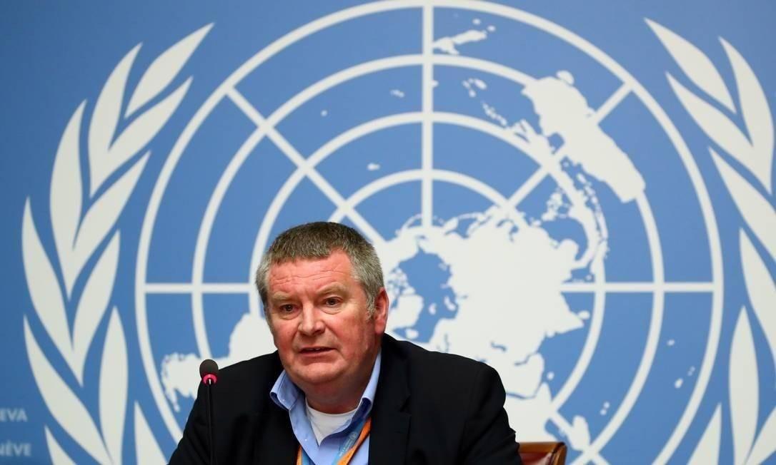Michael Ryan, diretor de emergências da OMS Foto: Denis Balibouse / REUTERS