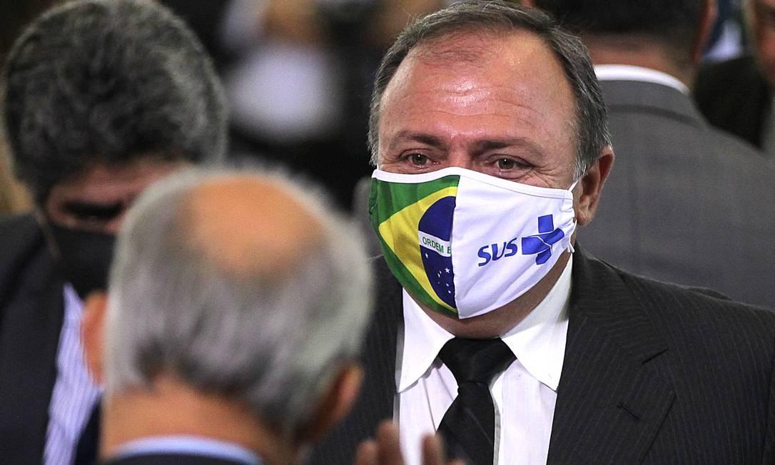 Ministro interino da Saúde, o militar Eduardo Pazuello Foto: Jorge William / Agência O Globo