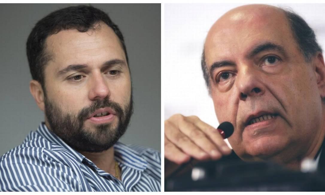 Os presidentes de Fluminense e Botafogo prometem entrar na Justiça Foto: Monstagem sobre fotos Antonio Scorza e AFP