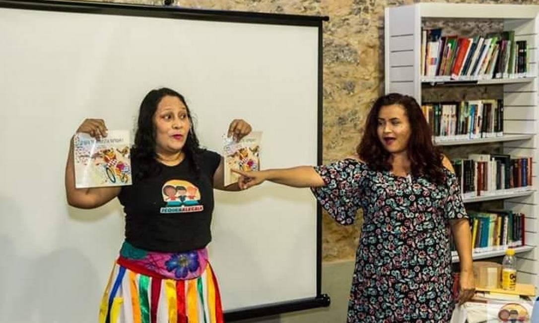 As idealizadoras do projeto,ArleneCostae Lucia Morais, comandam as oficinas de leitura virtuais. Foto: Divulgação