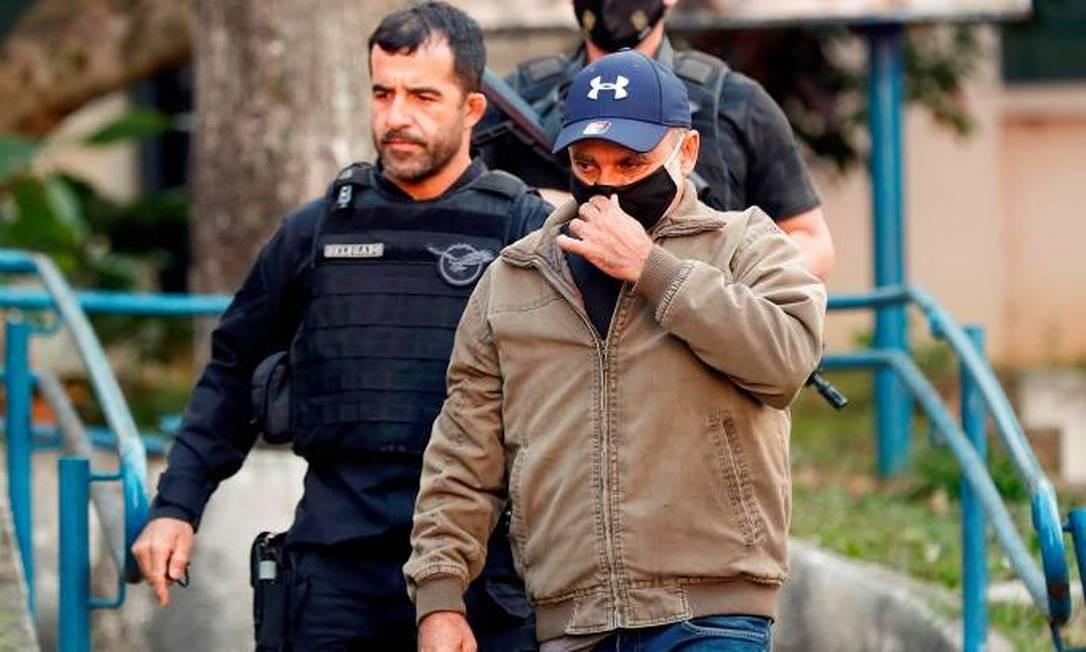 O ex-assessor Fabrício Queiroz, no momento da prisão Foto: Sebastião Moreira/EFE