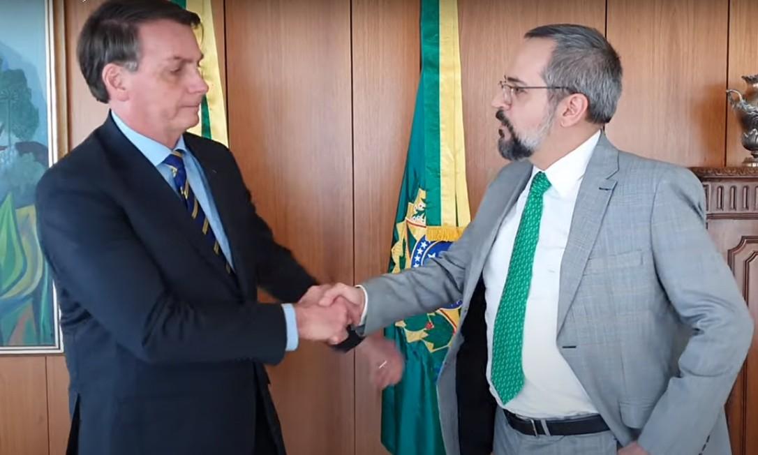 Bolsonaro e Weintraub em vídeo publicado nesta quinta-feira. Foto: Reprodução