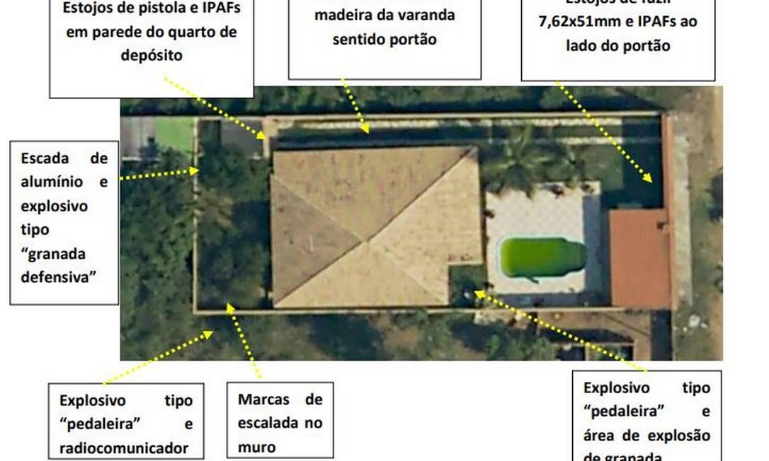 Laudo mostra casa onde menino foi morto Foto: Reprodução