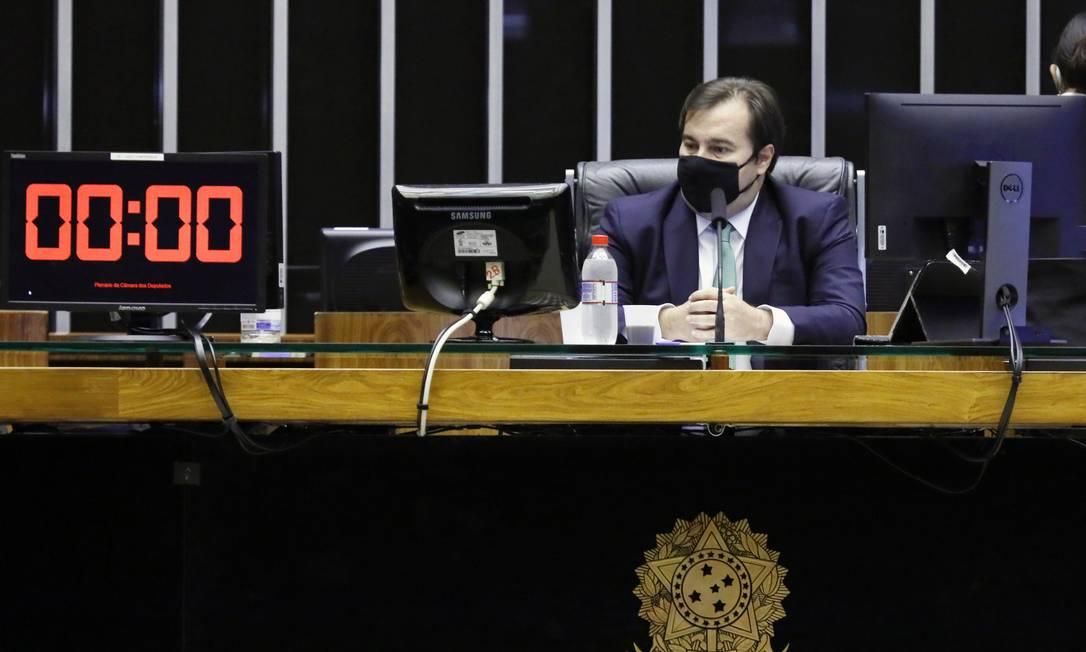 O presidente da Câmara, Rodrigo Maia (DEM – RJ) no plenário da Casa Foto: Luis Macedo/Câmara dos Deputados