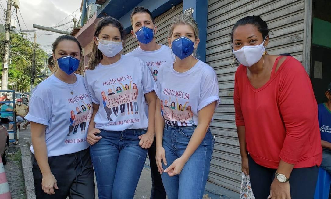 Grupo na comunidade do Mandela: ações serão realizadas pelo menos até o fim da pandemia Foto: Arquivo pessoal