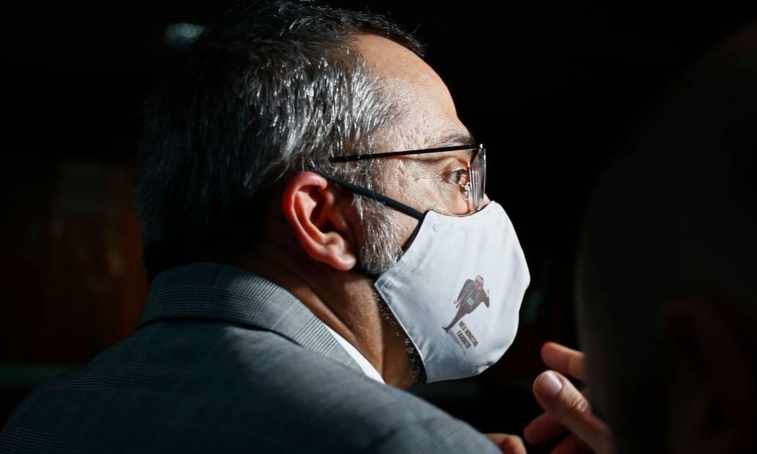 Abraham Weintraub deixa o Ministério da Educação e vai assunir cargo no Banco Mundial Foto: SERGIO LIMA / AFP