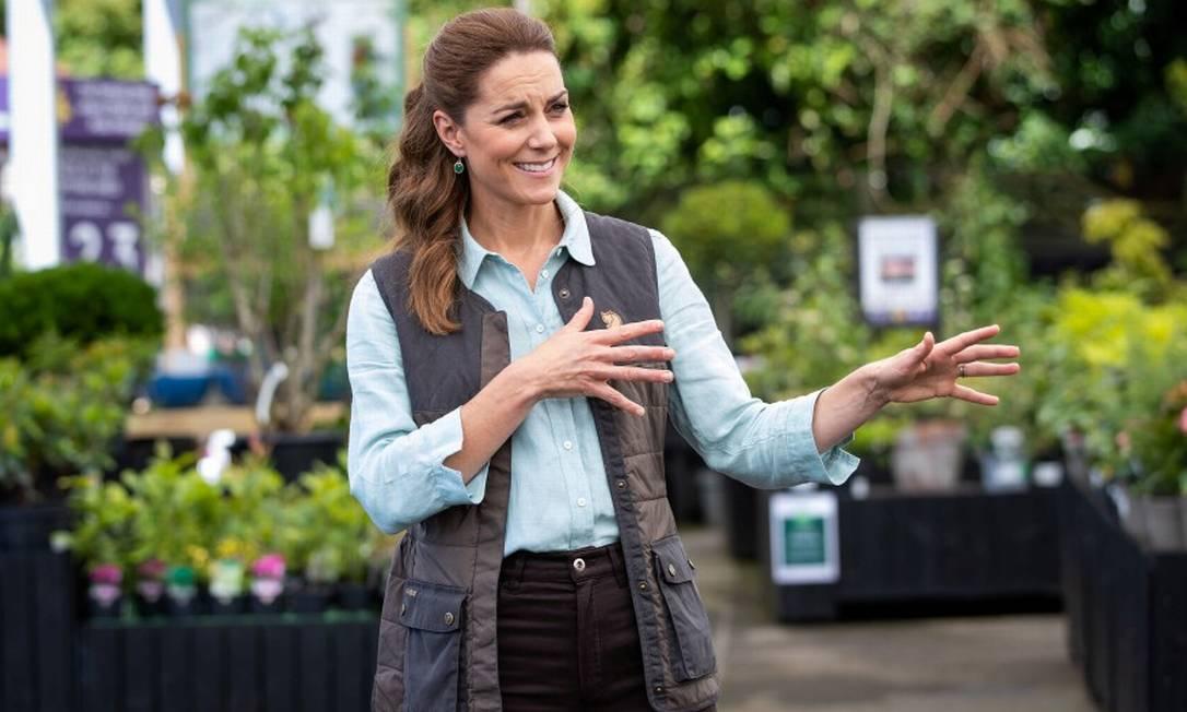 Ela está de volta! Kate Middleton retornou ao trabalho, na tarde na última quinta-feira, depois de quase três meses fora dos holofotes por causa da pandemia de Covid-19, que obrigou os membros da família real a ficarem em lockdown Foto: POOL / REUTERS