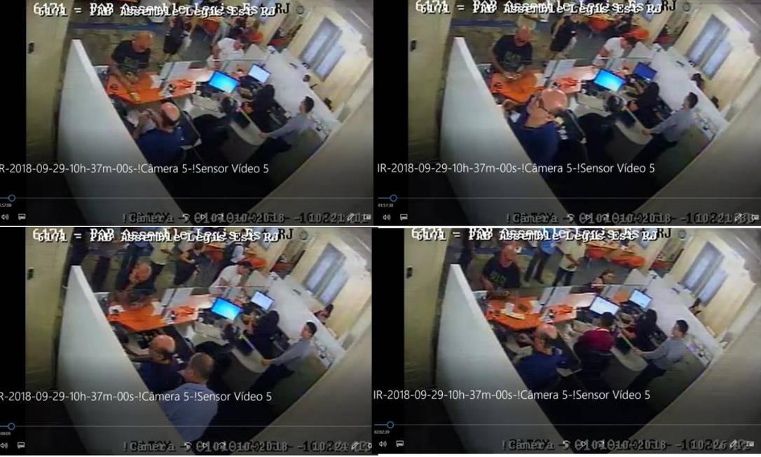 Imagens de câmeras de segurança apontam que Queiroz fez pagamento de mensalidade escolar das filhas de Flávio Bolsonaro, segundo investigação Foto: Reprodução