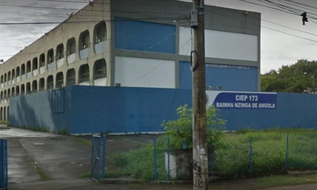 Ciep de Belford Roxo, na Baixada Fluminense, sofre com tiroteios no entorno Foto: Reprodução / Reprodução