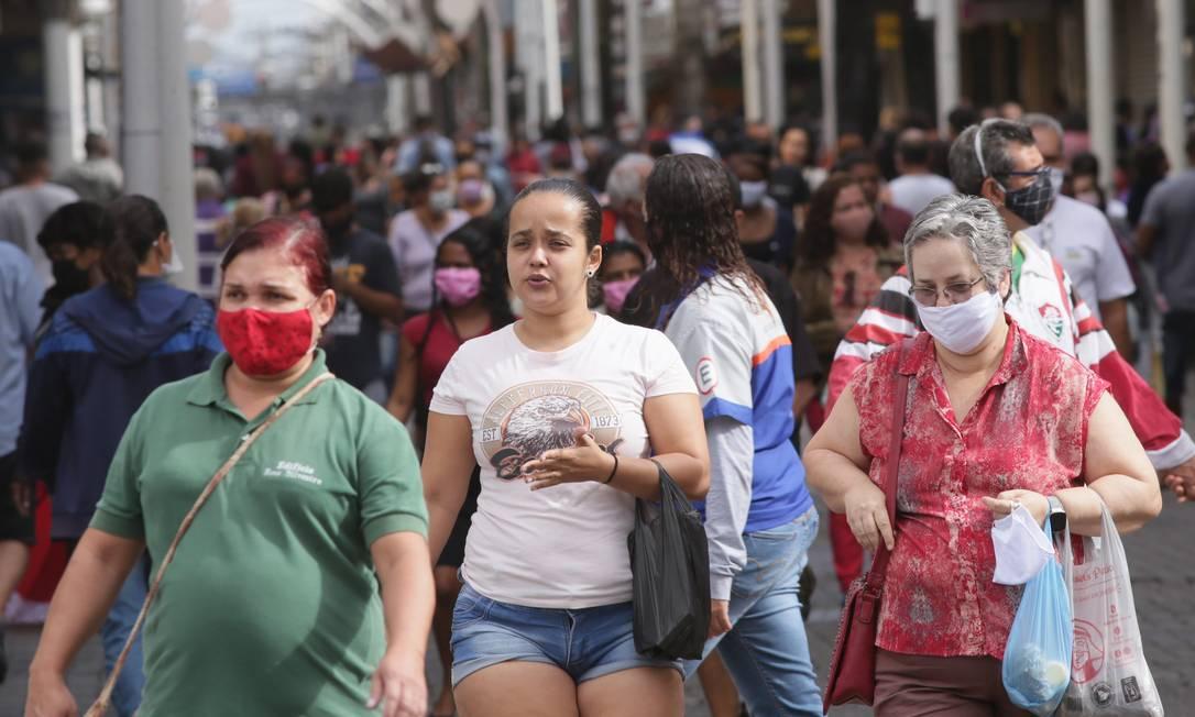 Cidade de Nova Iguaçu (RJ), que adotou regras para reabertura do comércio Foto: Cléber Júnior / Agência O Globo