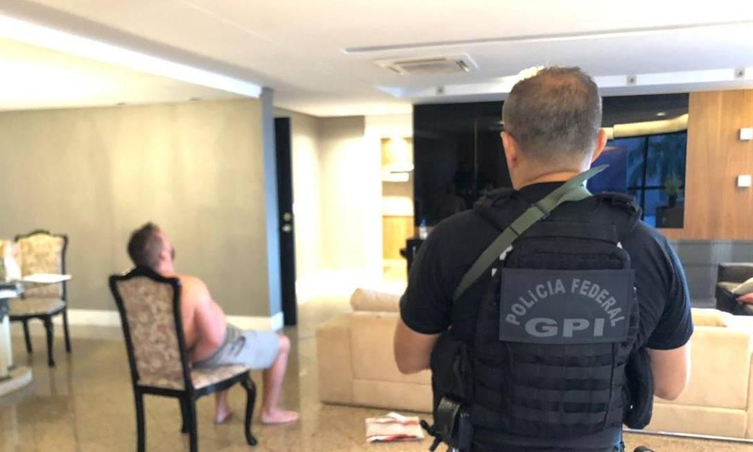 Britânico foi preso pela PF em bairro luxuoso da capital cearense Foto: Divugação