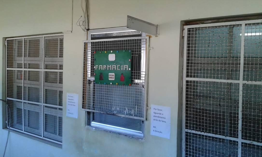 A fármácia do Hospital Psiquiátrico de Jurujuba: pacientes reclamam que estão há meses sem receber medicamentos de uso contínuo Foto: Divulgação