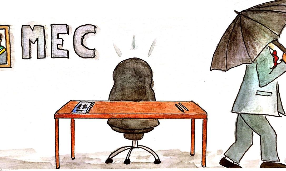 Weintraub deixa o Ministério da Educação Foto: Ilustração Fábio Campos