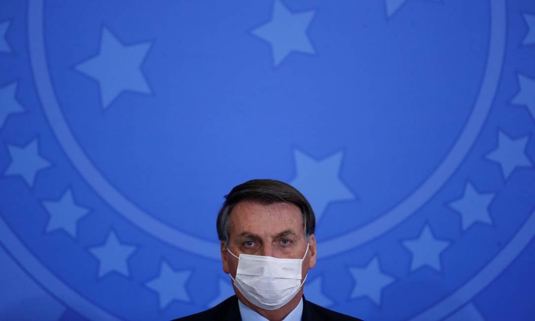 Bolsonaro durante solenidade em Brasília Foto: ADRIANO MACHADO / REUTERS