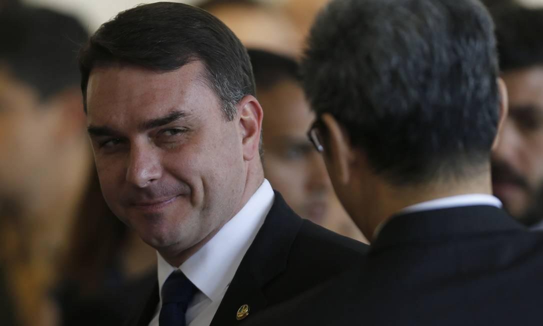 O senador Flávio Bolsonaro Foto: Jorge William / Agência O Globo
