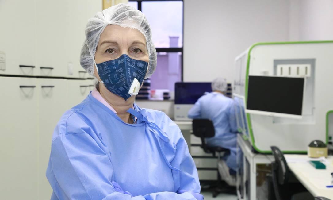 A virologista Marilda Siqueira, chefe do Laboratório de Vírus Respiratórios e Sarampo do Instituto Oswaldo Cruz (IOC/Fiocruz) Foto: Agência O Globo