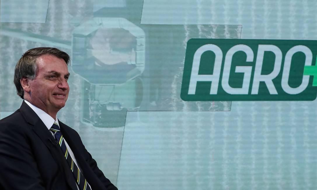 O presidente Jair Bolsonaro diz que o Brasil conseguiu recuperar a confiança no agronegócio Foto: Marcos Correa / Marcos Corrêa/PR