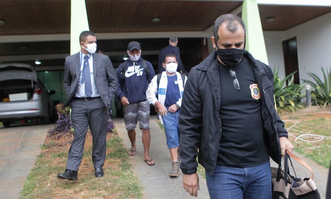 Polícia Federal faz busca e apreensão em operação que investiga financiamento de atos antidemocráticos. 16/06/2020 Foto: Jorge William / Agência O Globo